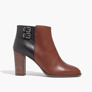 Madewell The Reid Two-Toned Side Zip Leather Boots